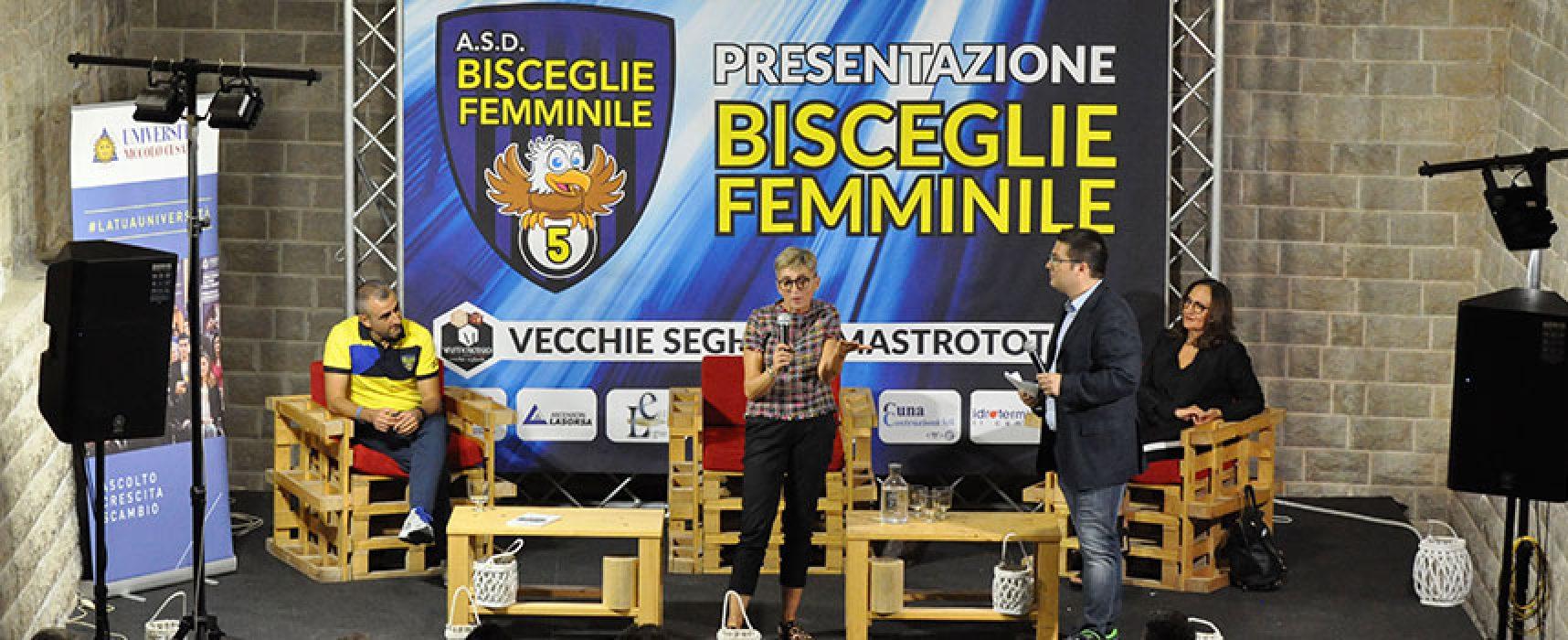 Stasera il Bisceglie Femminile si presenta in vista dello storico esordio in Serie A