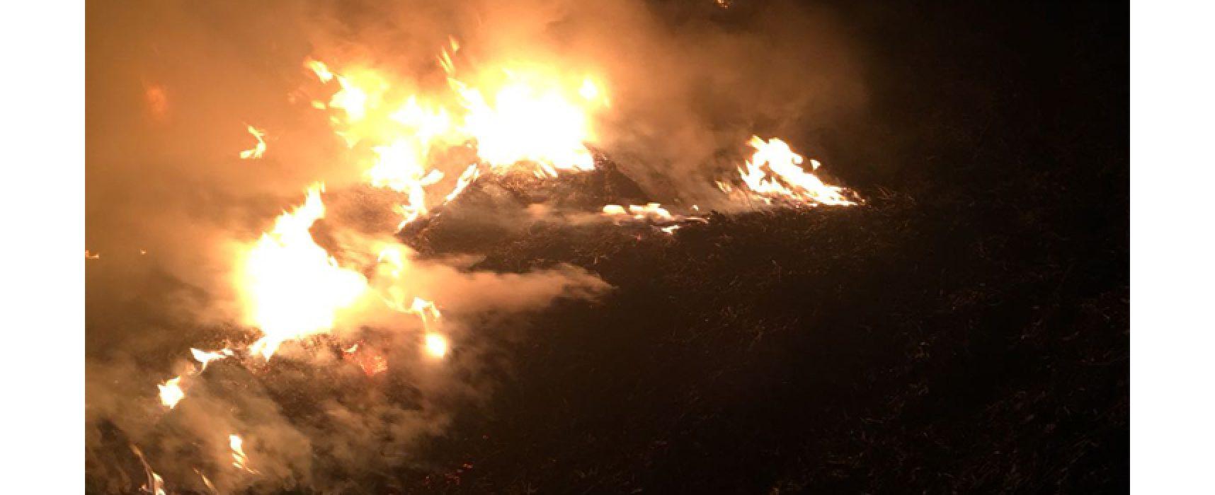 Incendio in via Andria, fumo si propaga in diverse zone della città / FOTO