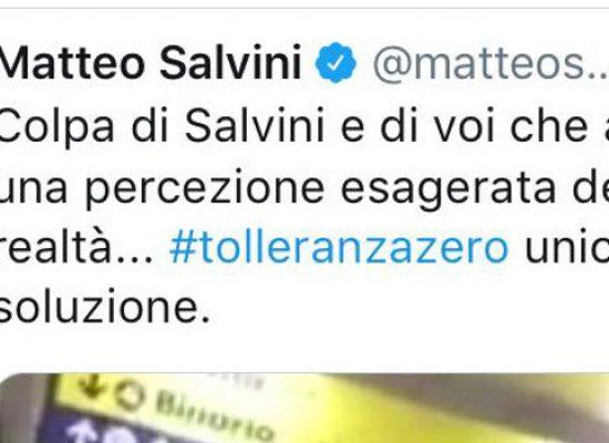 """Salvini pubblica su Twitter video rissa a stazione di Bisceglie: """"#tolleranzazero unica soluzione"""""""