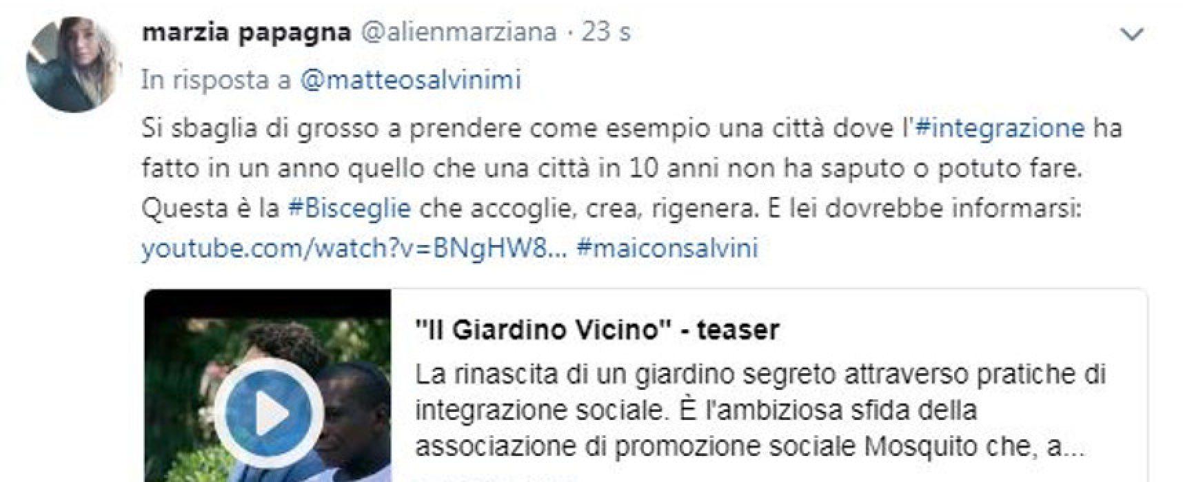"""Rissa stazione, Aps Mosquito a Salvini: """"Bisceglie città che accoglie, crea e rigenera"""""""