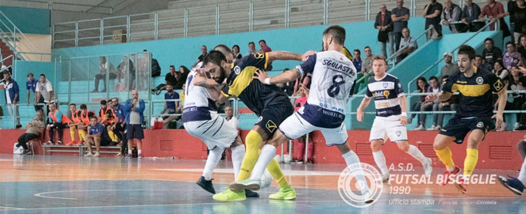 Il Futsal Bisceglie vuole rialzarsi, al PalaDolmen arriva la Tenax