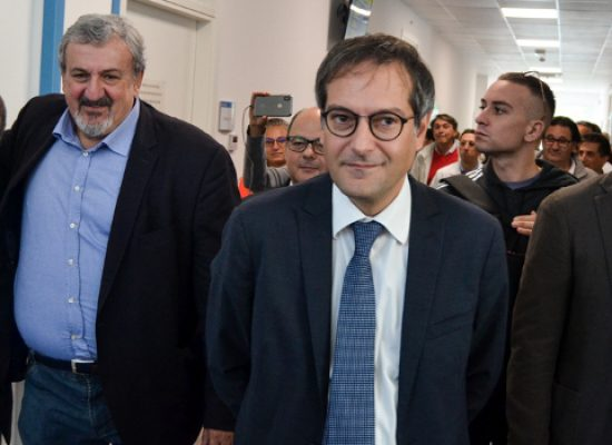 """Ospedale, Angarano visita poliambulatorio con Emiliano: """"rassicurazioni su cardiologia"""""""