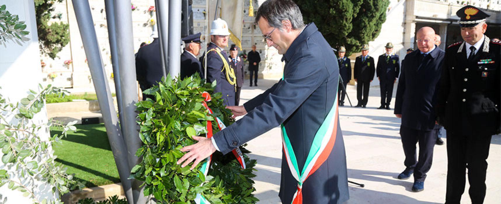 Bisceglie oggi ha onorato la memoria di Carlo De Trizio e Pierdavide De Cillis / Foto