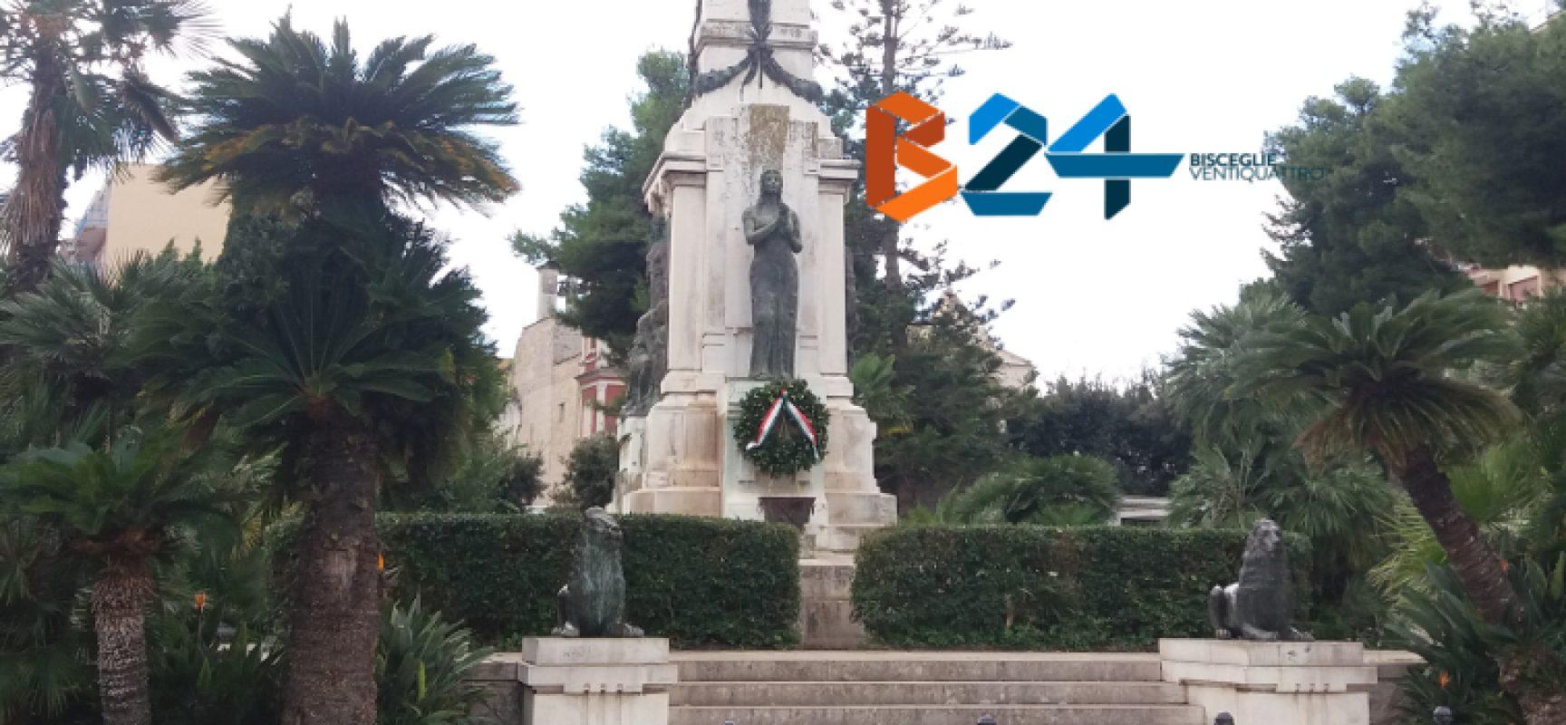 Imbrattato Monumento ai Caduti in piazza Vittorio Emanuele / FOTO