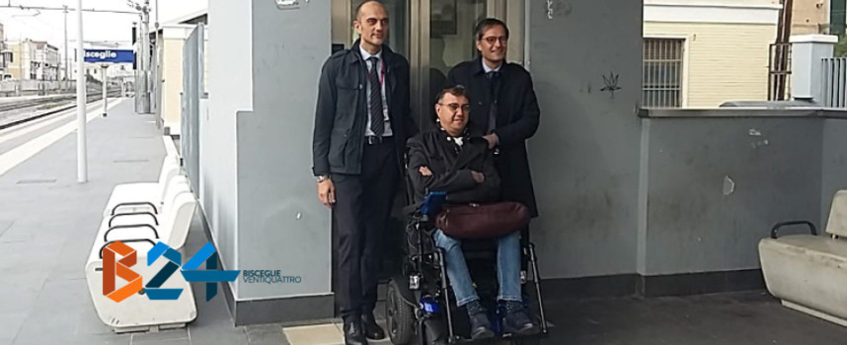 Una città a misura di tutti, inaugurati gli ascensori alla stazione ferroviaria di Bisceglie