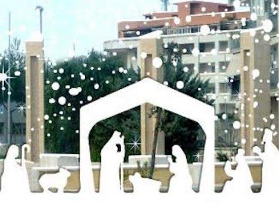 """Parrocchia San Pietro, presepe in piazza """"don Milani"""" tra fede ed attenzione al quartiere"""