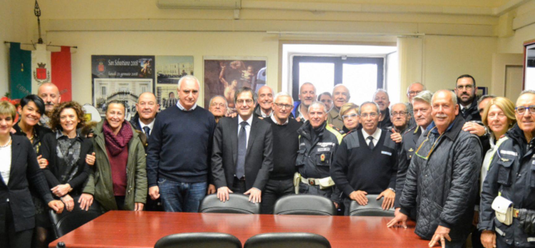 Gli auguri dell'amministrazione comunale a Polizia Locale e dipendenti comunali