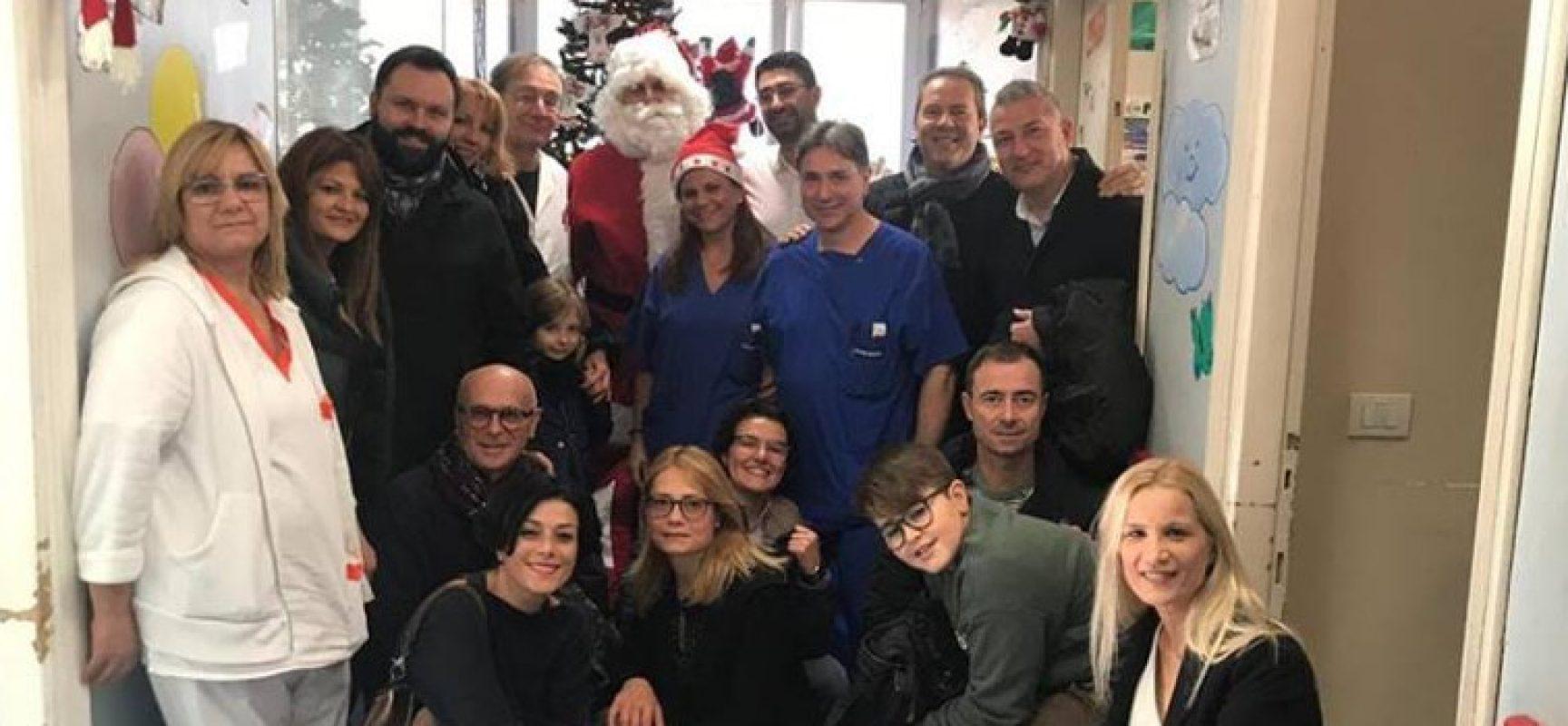 """Il movimento civico """"Difendiamo Bisceglie"""" in visita al reparto pediatria del Vittorio Emanuele II"""