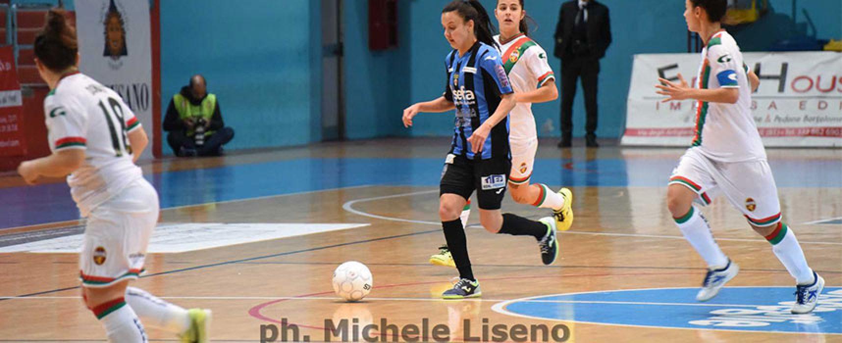 Il Bisceglie Femminile torna alla vittoria contro il Futsal Cagliari