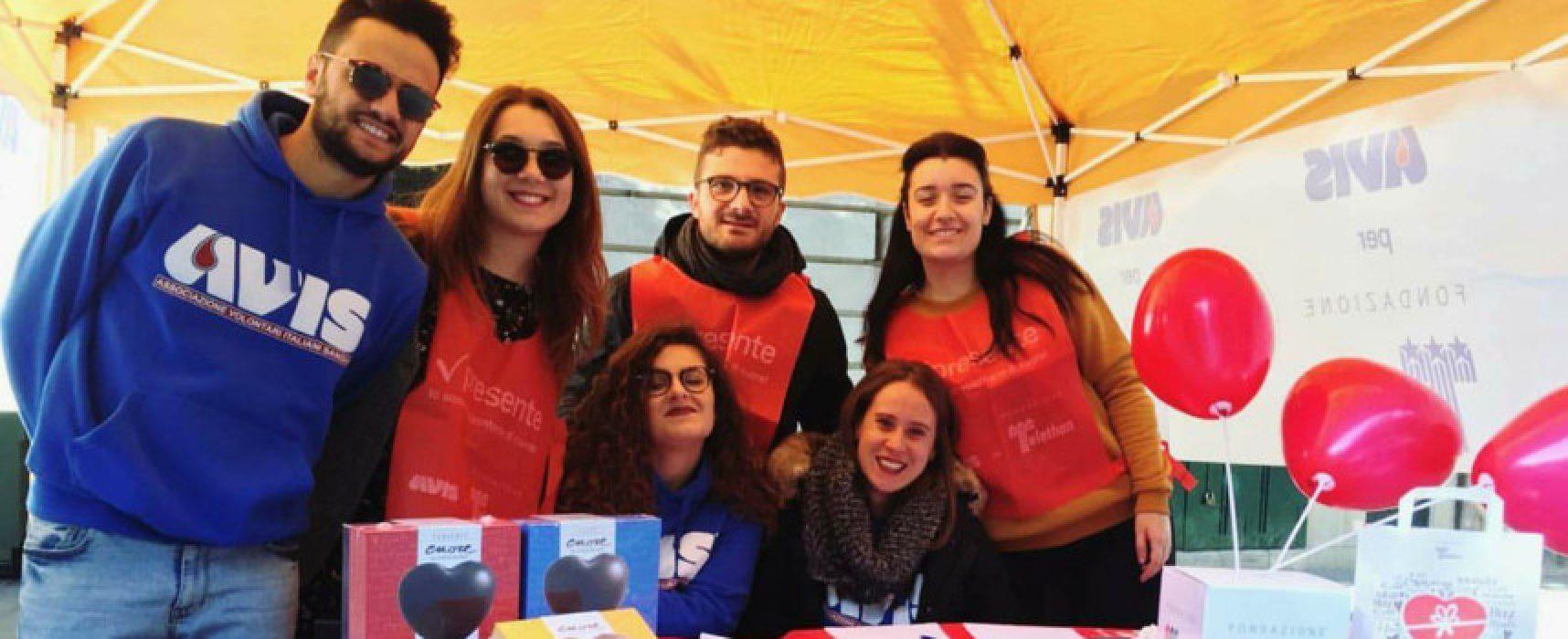 Gruppo giovani Avis Bisceglie e Fondazione Telethon raccolgono fondi per la ricerca