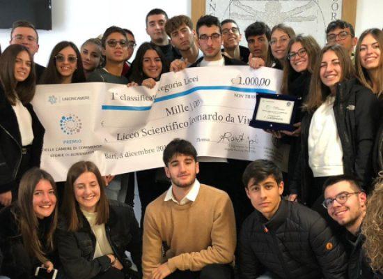 """Premio """"Storie di Alternanza"""", primo posto al Liceo """"da Vinci"""" di Bisceglie / VIDEO e FOTO"""