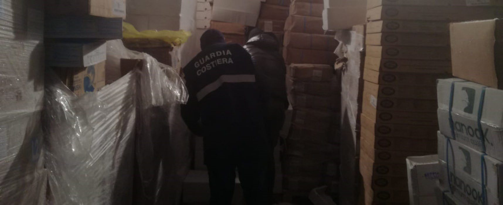 Guardia costiera sequestra 4 tonnellate di prodotti ittici a Bisceglie