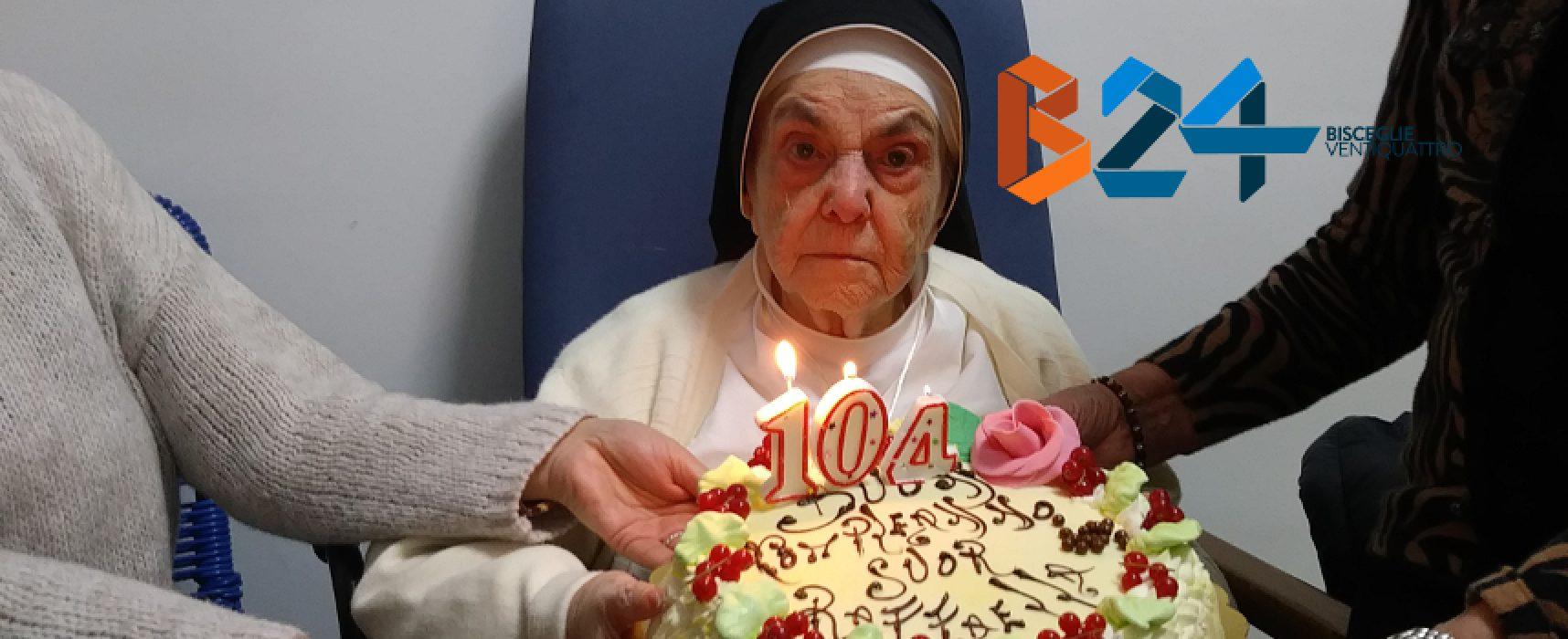 Grande festa per suor Raffaella che ha raggiunto il traguardo dei 104 anni