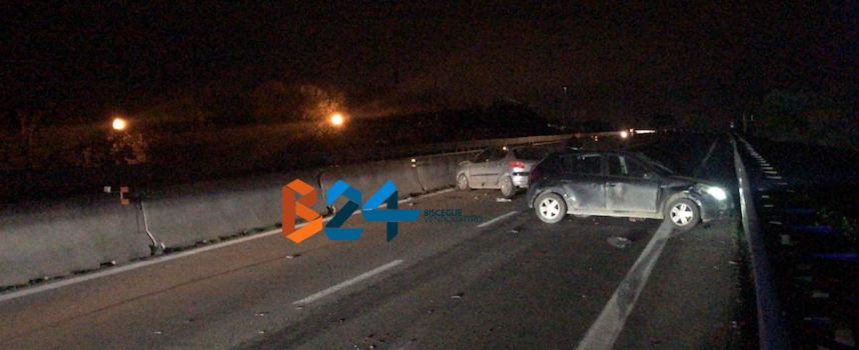 Incidente sulla 16 bis tra Trani sud e Bisceglie nord, tre feriti