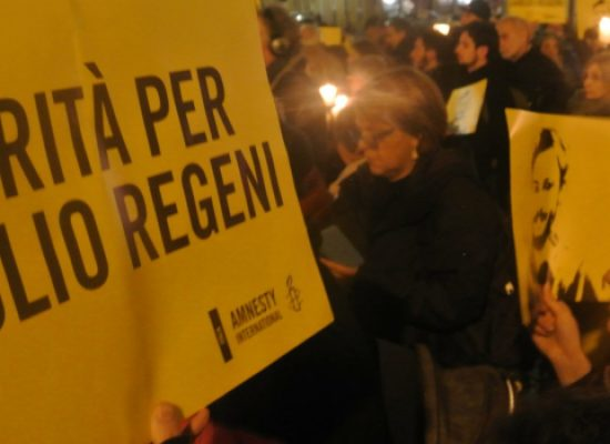 """""""Tre anni senza Giulio"""", fiaccolata per ricordare il ricercatore scomparso in Egitto"""