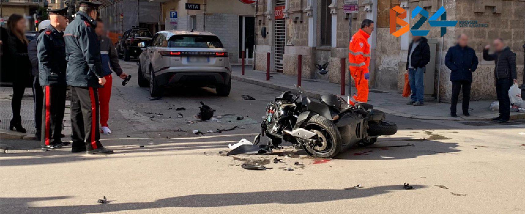 Scontro auto-moto in via Piave, due minorenni al pronto soccorso / FOTO