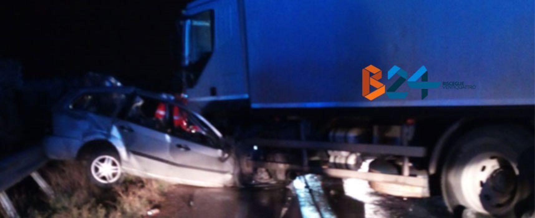Incidente nella notte sulla Bisceglie-Andria, un morto