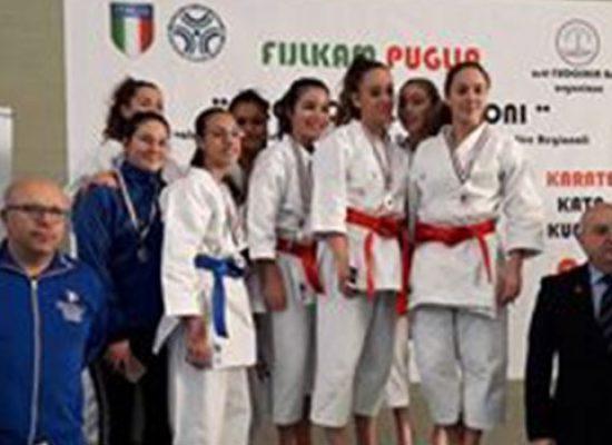Ottimi risultati per le Fiamme Cremisi Bisceglie nel Trofeo delle Regioni di karate