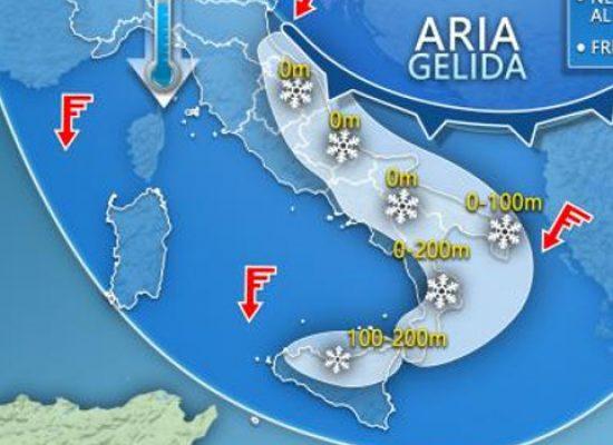 Protezione civile prolunga allerta meteo gialla: gelo e neve almeno per le prossime 24 ore