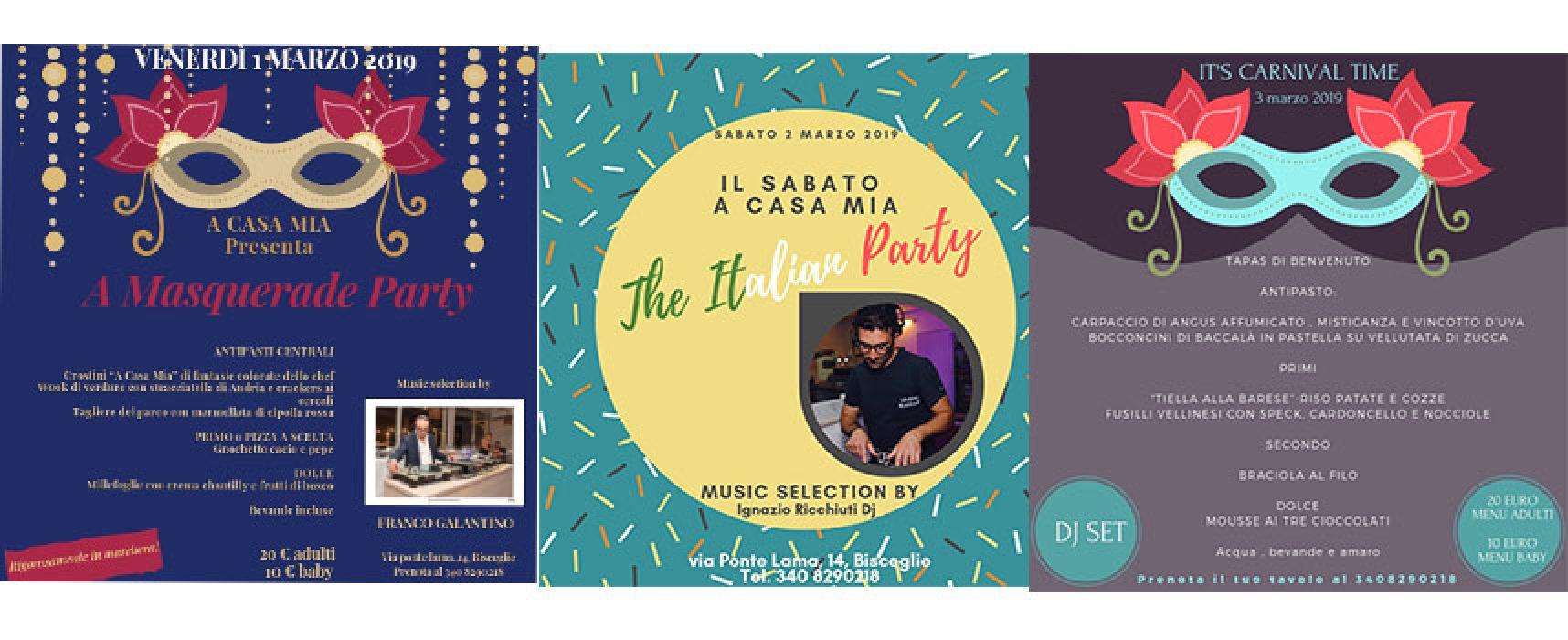 """Weekend all'insegna del Carnevale da """"A Casa Mia Winter Edition"""""""