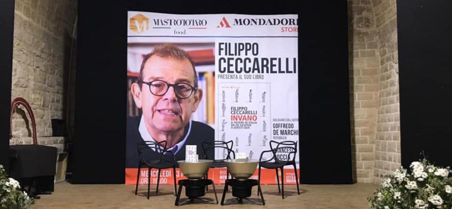 """Il giornalista Filippo Ceccarelli presenta """"Invano"""" alle Vecchie Segherie Mastrototaro"""