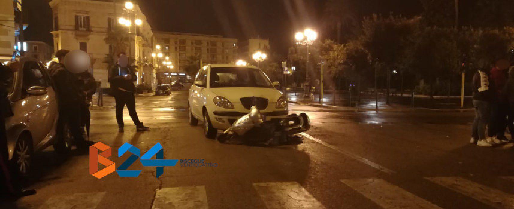 Scontro tra auto e scooter elettrico, minorenne al pronto soccorso