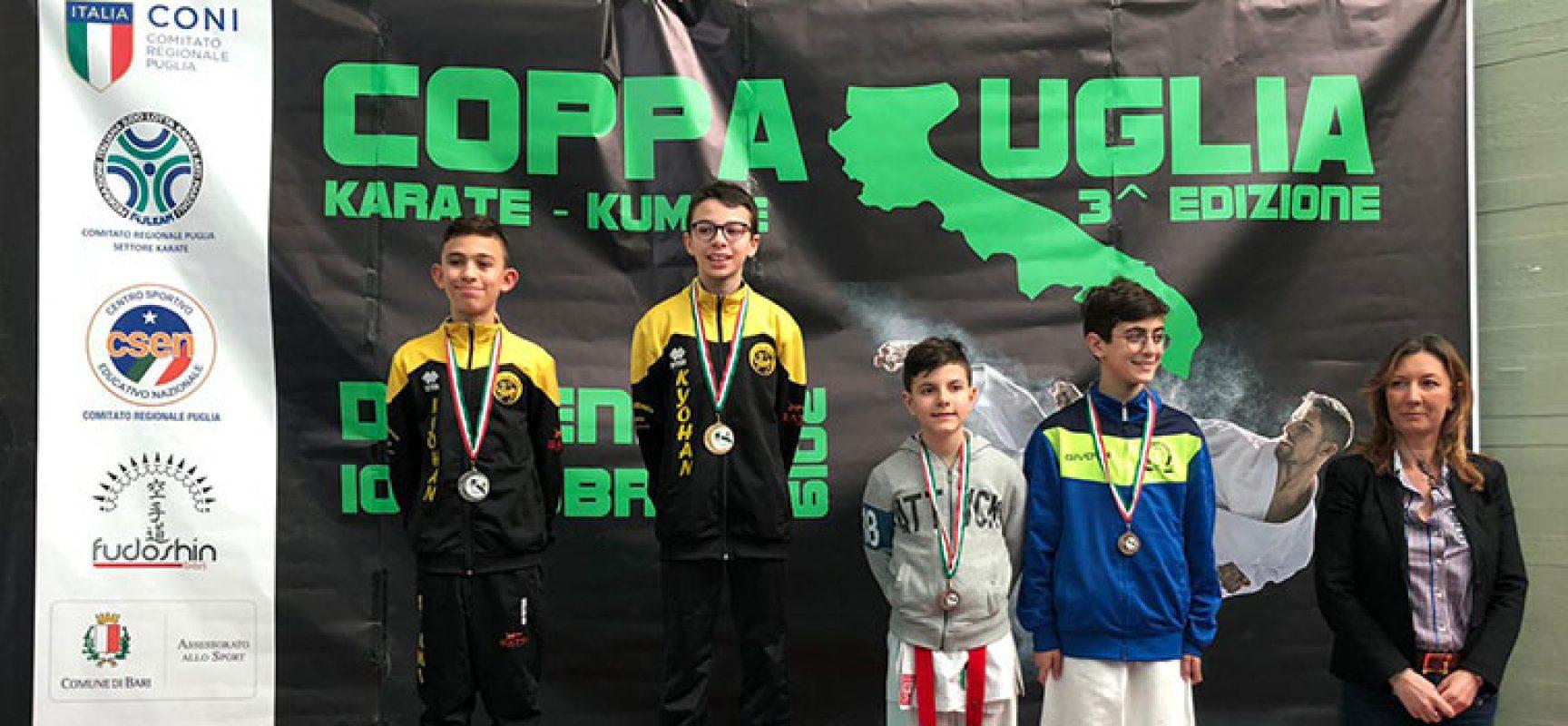 Doppietta biscegliese nella Coppa Puglia di Kumite