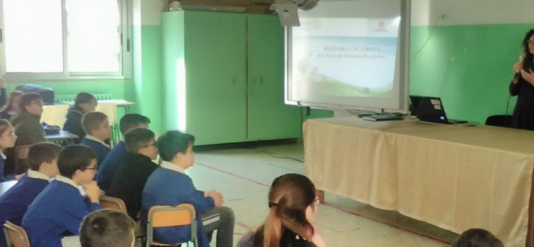 """""""Rotaryuniamoci"""", scolari a raccolta contro lo spreco alimentare"""