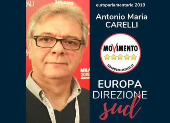 Il biscegliese Antonello Carelli candidato alle Europarlamentarie del M5s