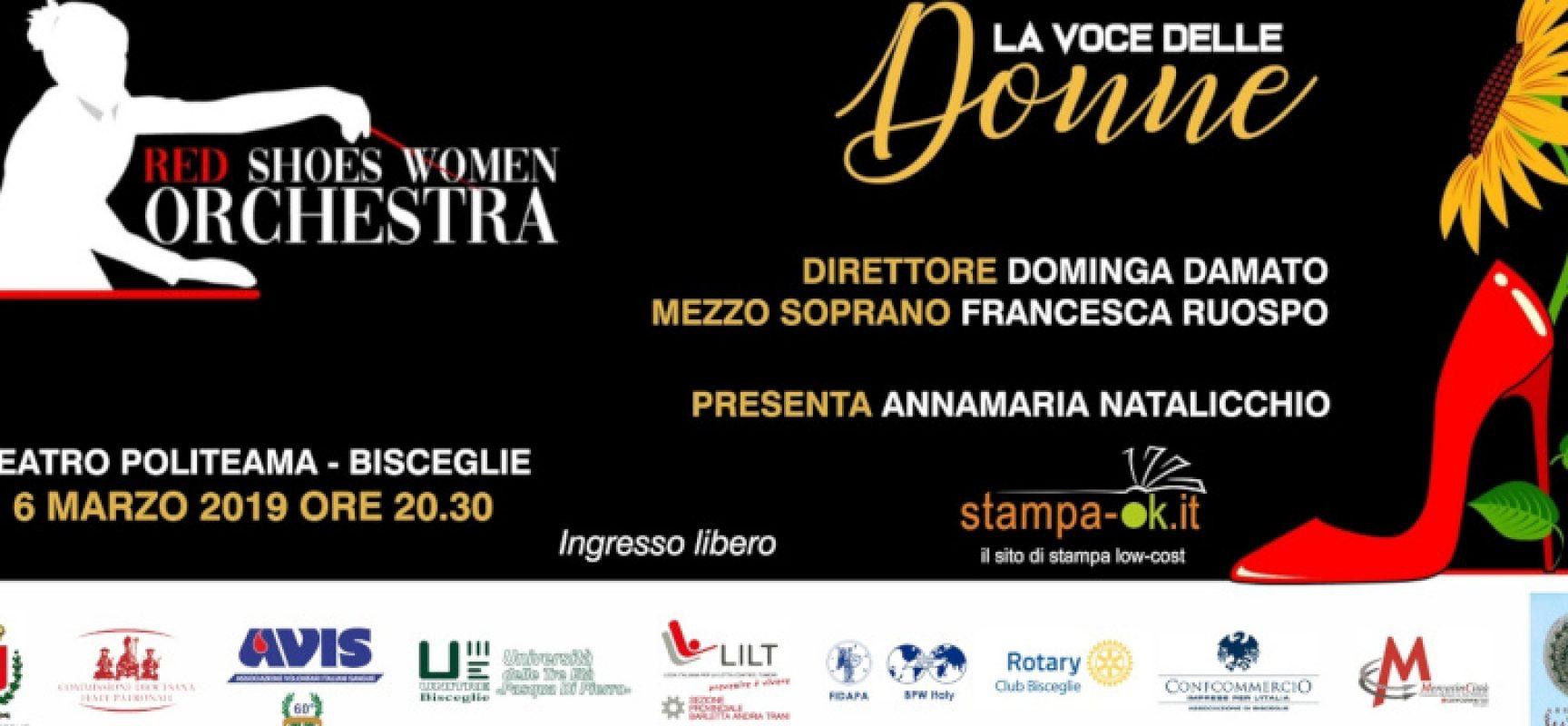 La Red Shoes Women Orchestra al Politeama per un concerto contro la violenza sulle donne