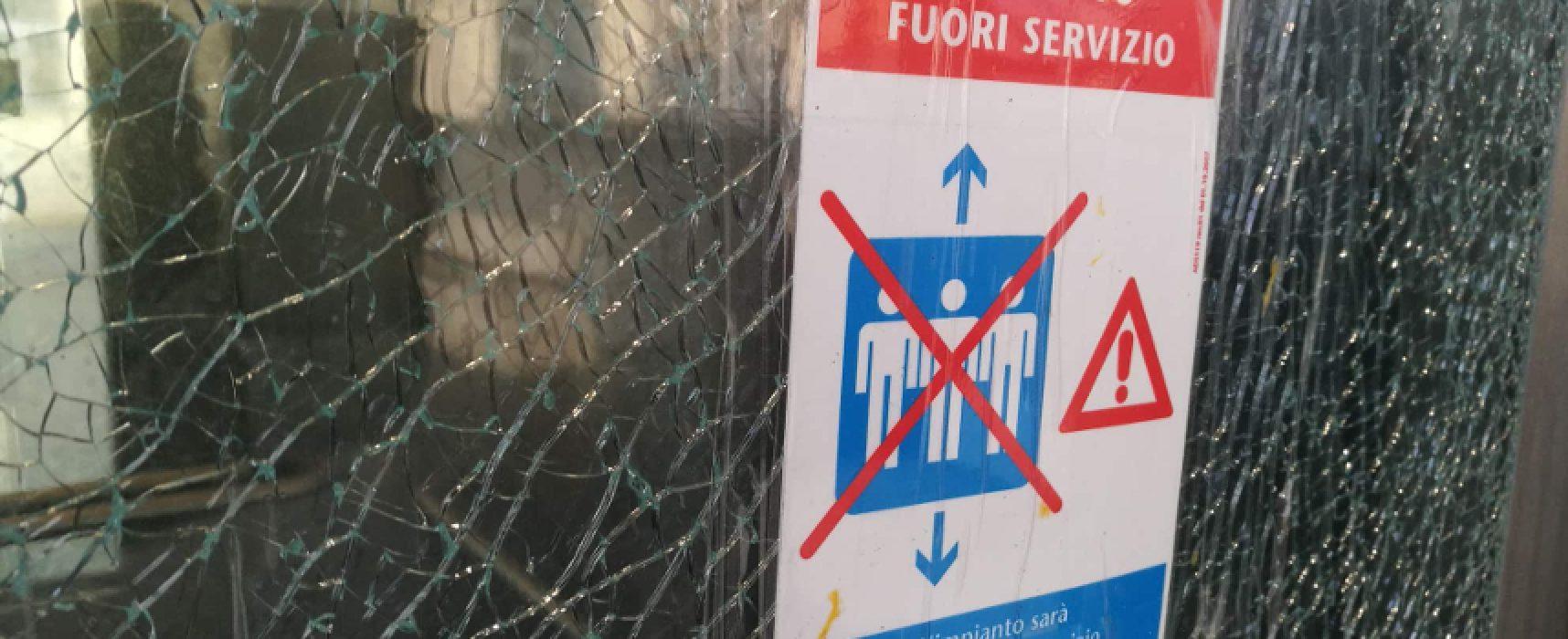 """Stazione, rotto vetro ascensore, Angarano: """"Serve fronteggiare inciviltà. Sarcasmo è inutile"""""""