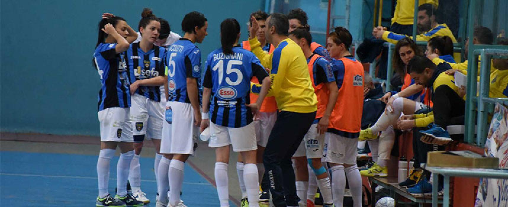 Futsal Florentia vittorioso al PalaDolmen contro il Bisceglie Femminile