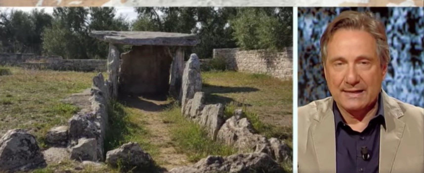 """Il Dolmen di Bisceglie a Kilimangiaro, Mario Tozzi: """"Il mio monumento preferito in Puglia"""""""