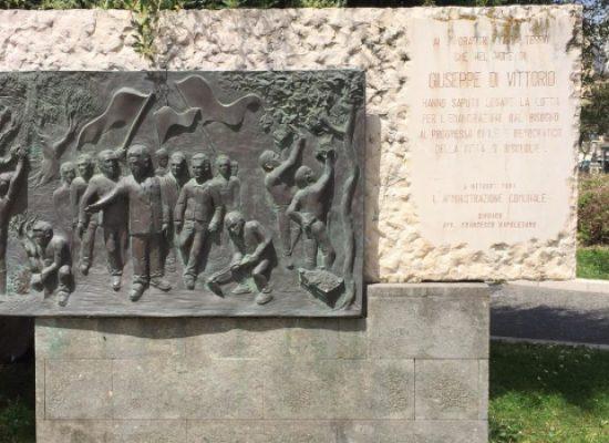 Primo maggio, commemorazione Giuseppe Di Vittorio in piazza Vittorio Emanuele