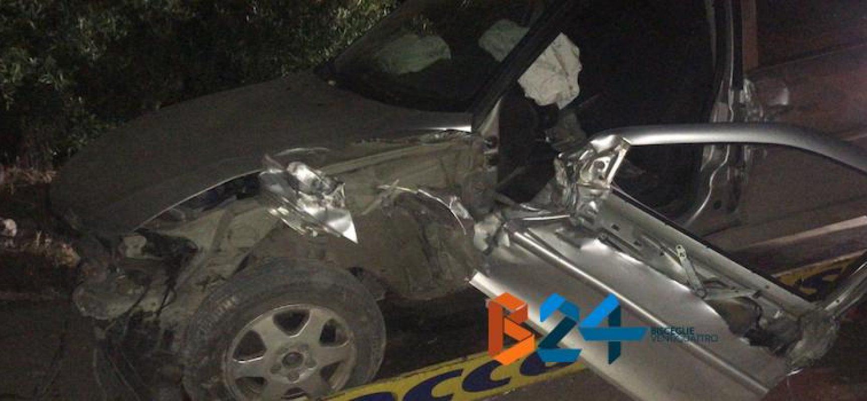 Scontro tra auto e trattore su via Crosta, un ferito al pronto soccorso