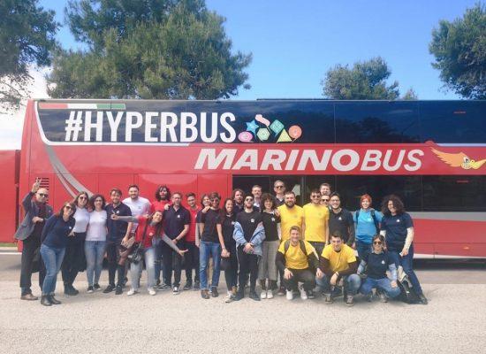 Pugliesi a Milano, venti giovani a bordo dell'Hyperbus per creare e condividere