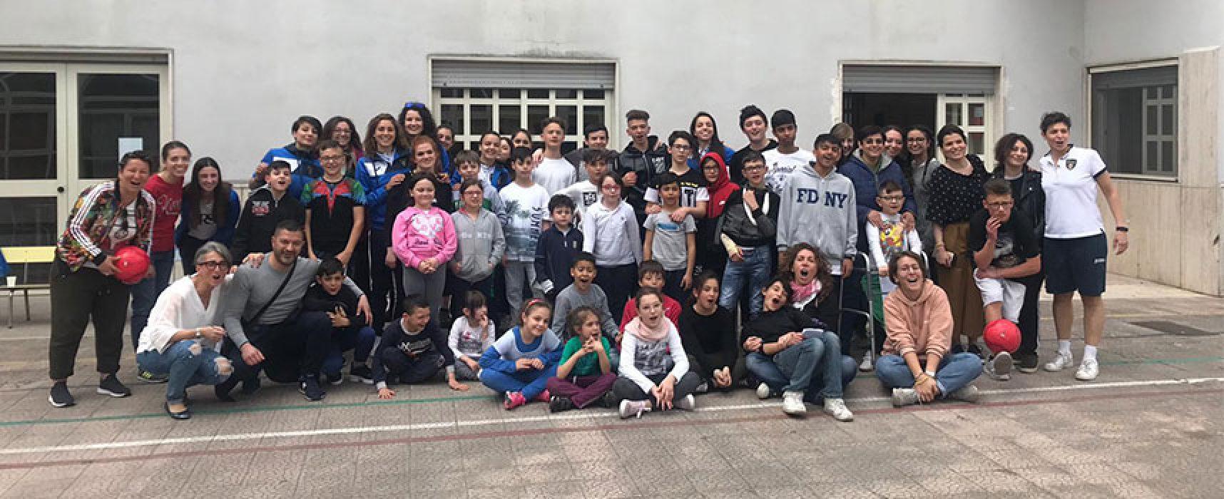 """Bisceglie Femminile, un pomeriggio speciale con i ragazzi del Centro """"Volto Santo"""" / FOTO"""