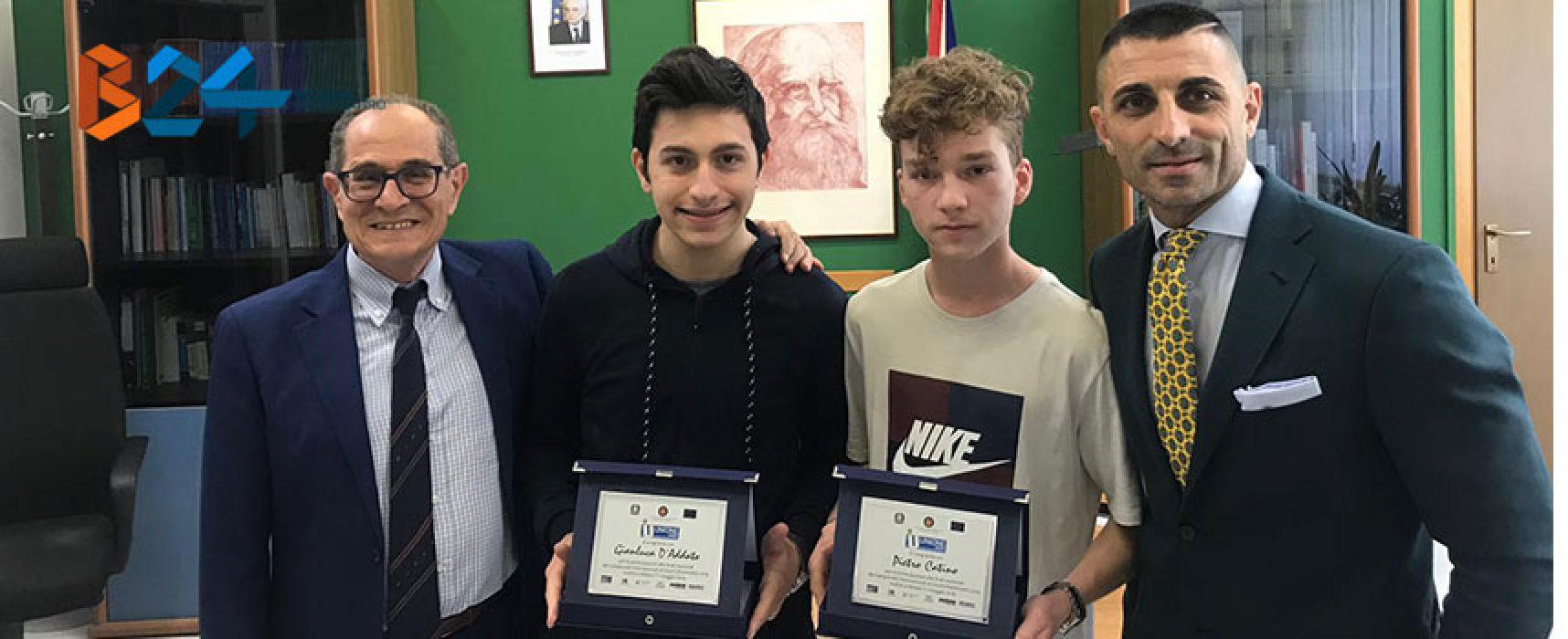 Due studenti biscegliesi tra i finalisti a Milano dei Campionati Internazionali di Giochi Matematici / VIDEO