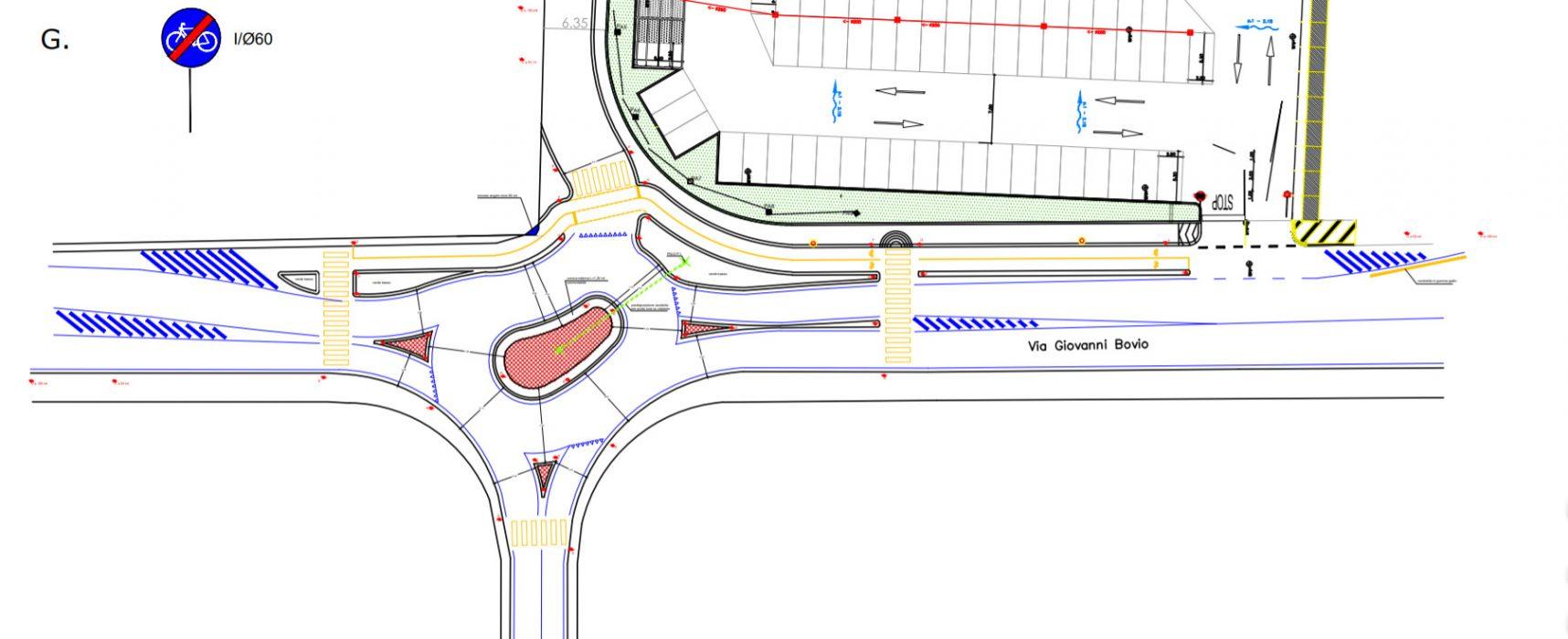 Nuova rotatoria e pista ciclabile su via Giovanni Bovio, iniziativa dei privati