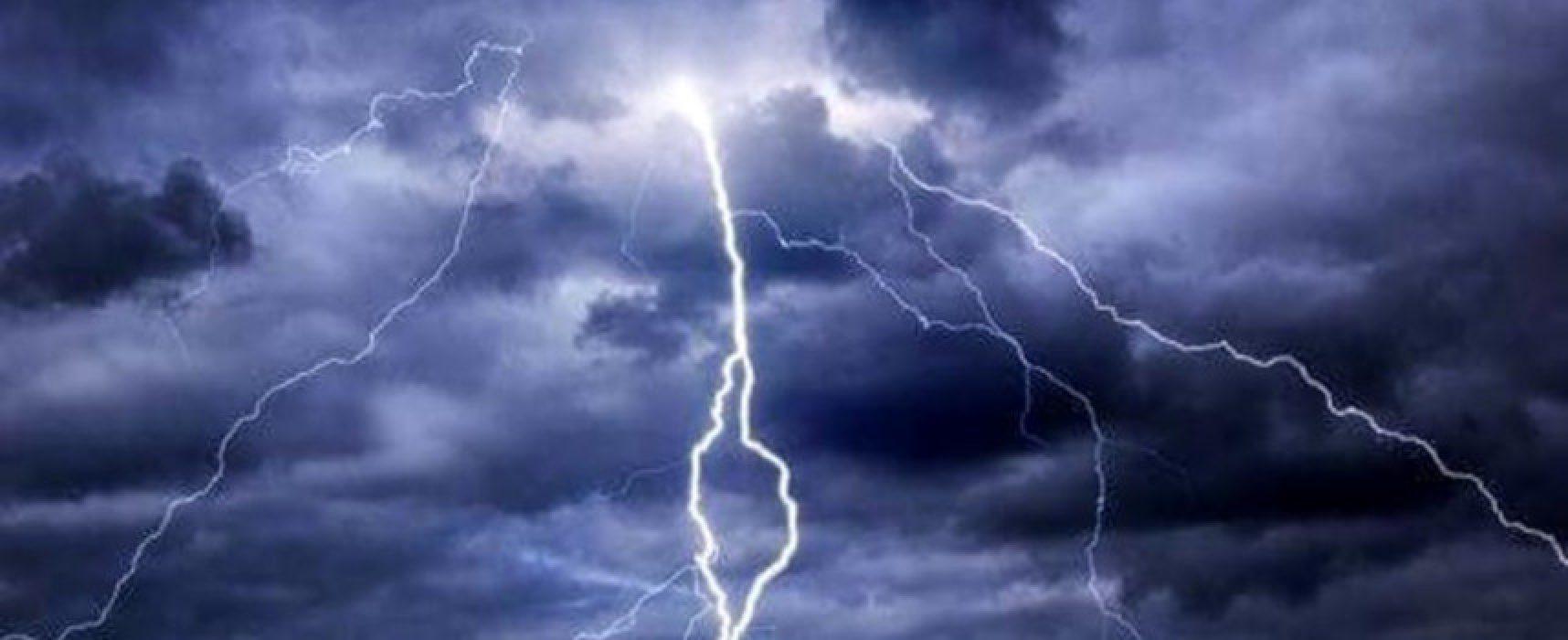 Allerta meteo gialla per rischio idrogeologico e temporali