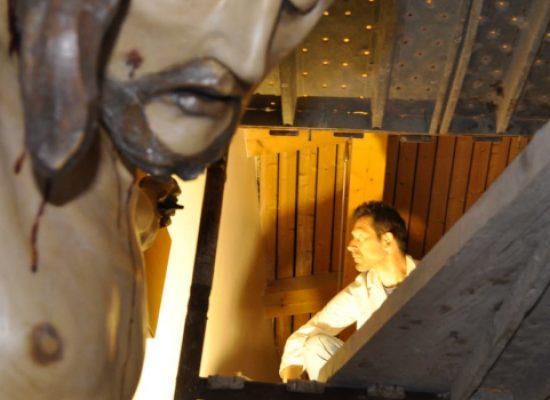 Inaugurazione dell'opera di Domenico Velletri nella chiesa di santa Caterina da Siena
