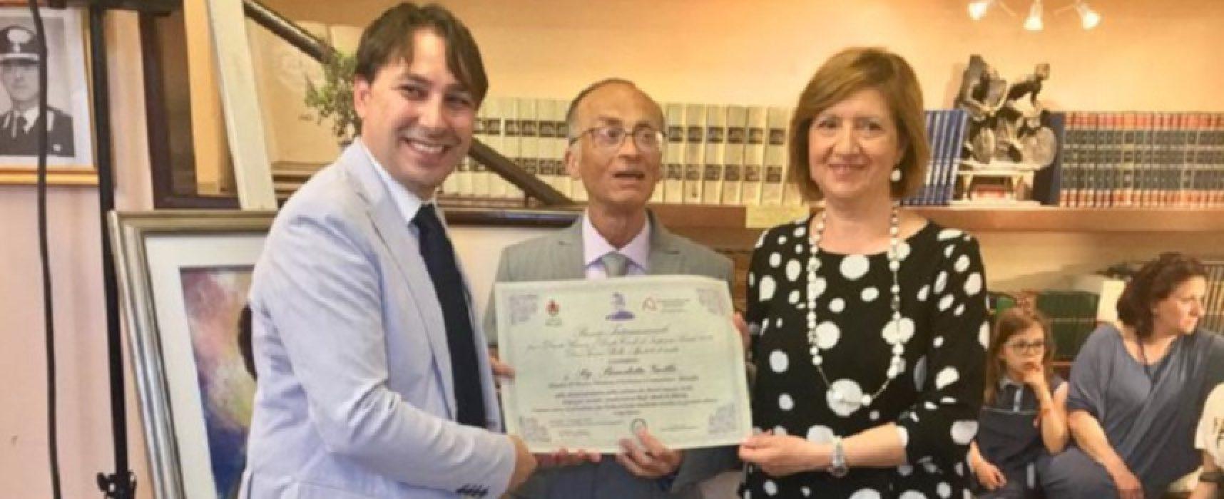 """Il maestro Benedetto Grillo premiato con il riconoscimento """"Sergio Nigri"""""""