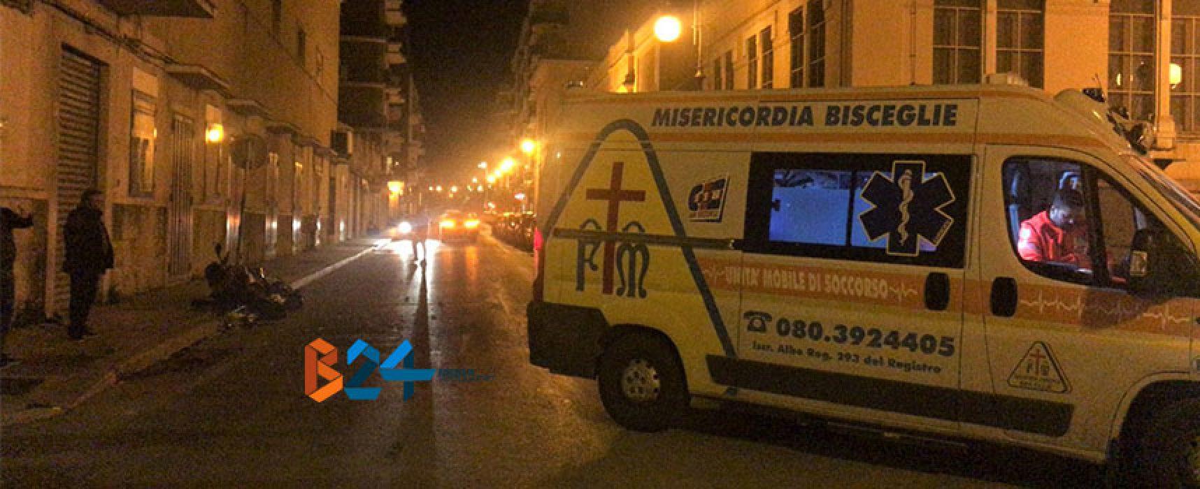 Scontro auto-moto in via Piave, centauro al pronto soccorso