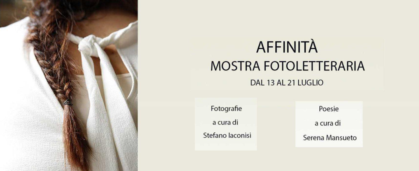"""Scatti e poesia, oggi l'inaugurazione della mostra fotoletteraria """"Affinità"""""""