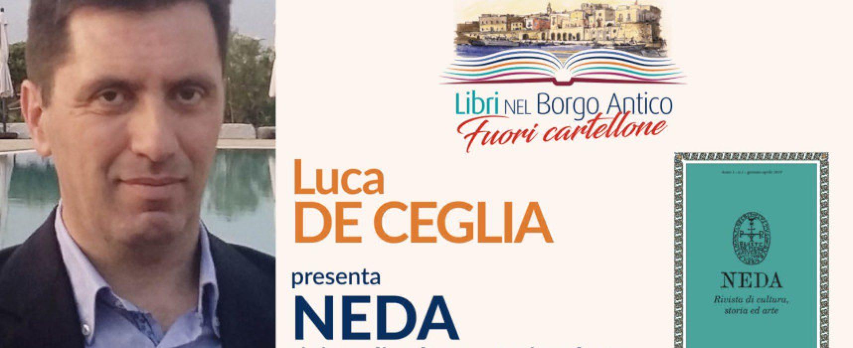 """#FuoriCartellone Libri nel Borgo Antico, Luca De Ceglia presenta """"Neda"""""""