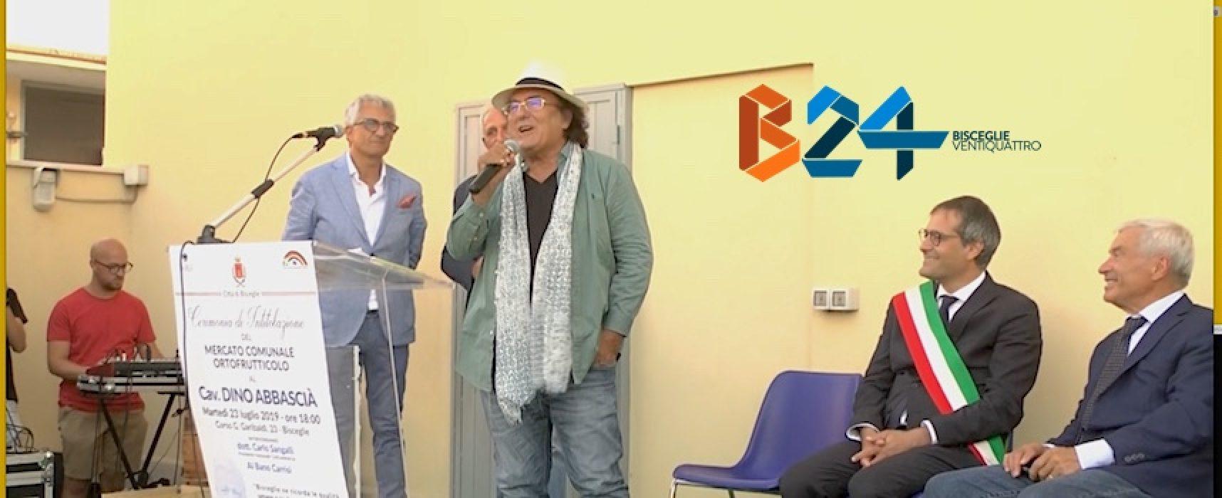 Intitolazione mercato ortofrutticolo Dino Abbascià, il ricordo di Al Bano / VIDEO