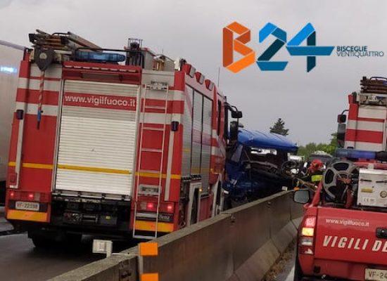 Scontro tra mezzi su strada statale 16, un morto