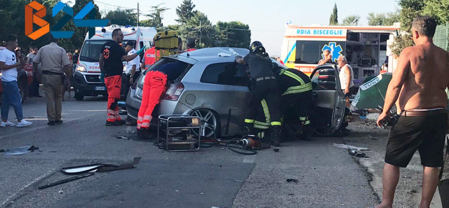 Violento incidente sulla Sp85, quattro feriti
