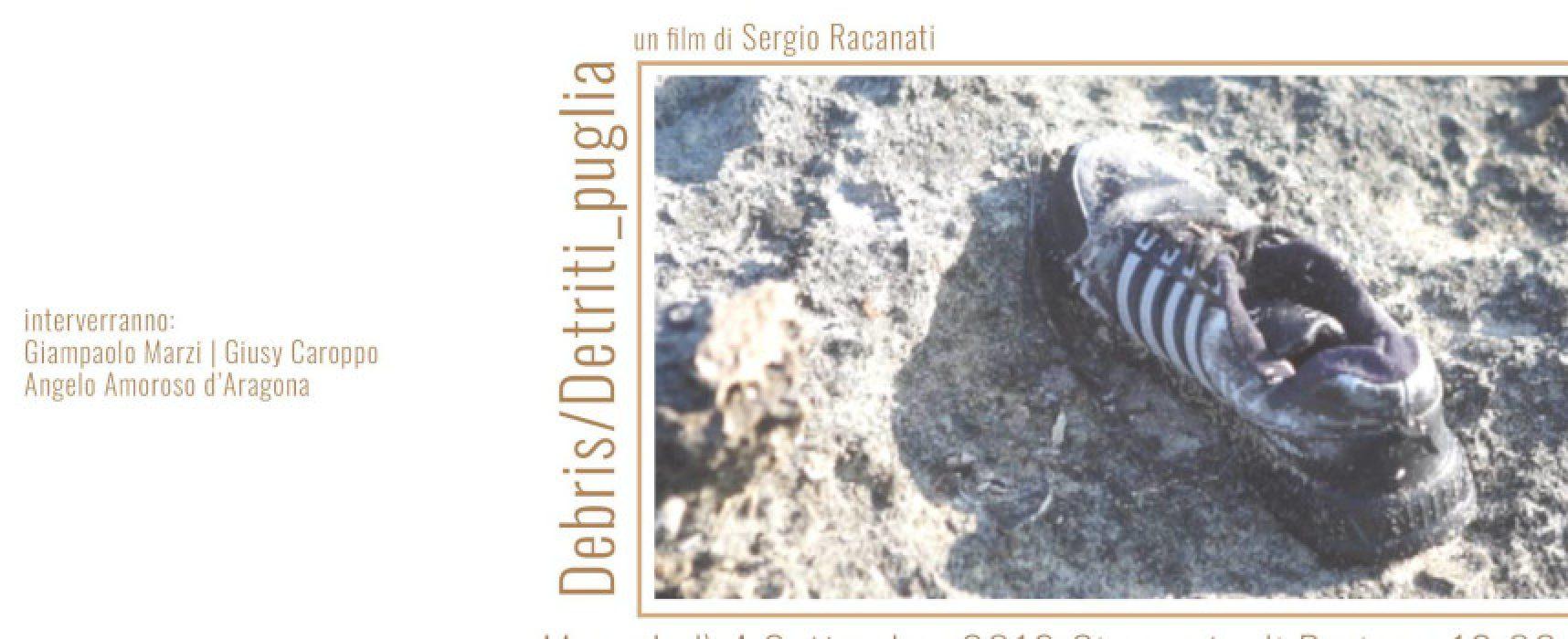 Debris/Detriti-Puglia, in anteprima a Bari il documentario del regista biscegliese Racanati
