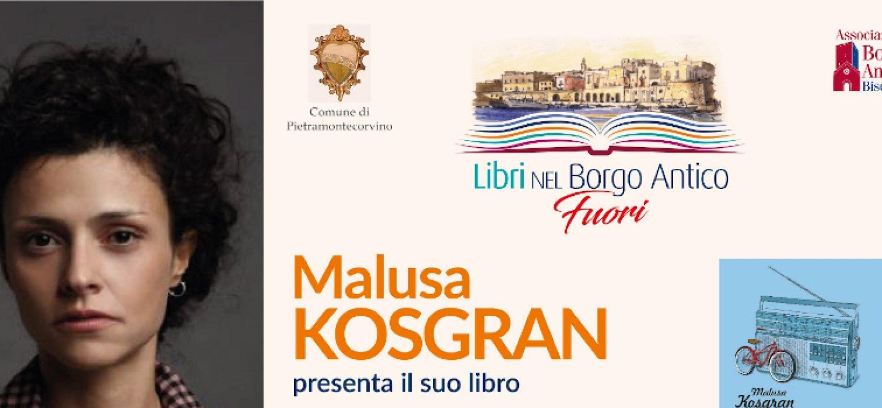 """Ultima tappa di """"Fuori Libri"""", oggi Malusa Kosgran a Pietramontecorvino"""